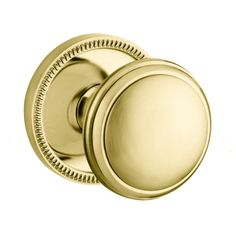 Baldwin 5069.M.IDM 5069 Style Single Dummy Door Knob with choice of Medium Roset Lifetime Polished Brass Knobset Single Dummy
