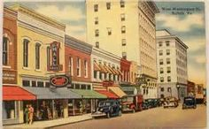 Old Suffolk downtown, via postcard view Suffolk Virginia, Suffolk Va, Central Library, Washington Street, Places Of Interest, Historical Society, Holiday Destinations, Yahoo Images, Image Search