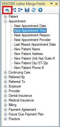 Adding Dentrix Fields to Letters in Microsoft Word - Dentrix eNewsletter Tip 11/30/2010