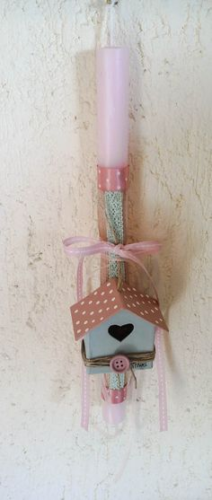 Easter candle, by Ntourel Easter Crafts, Easter Ideas, Handmade Lamps, Happy Easter, Sewing Crafts, Diy And Crafts, Easter Candle, Candles, Christmas Ornaments
