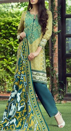 Buy Olive/Teal Blue Embroidered Khaddar Salwar Kameez by Bonanza 2015 Call: (702) 751-3523 Email: Info@PakRobe.com www.pakrobe.com https://www.pakrobe.com/Women/Clothing/Buy-Winter-Salwar-Kameez-Online #Winter_Salwar_kameez