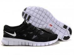 UK - Nike Free Run 2 Mens Black/Charcoal Gray/White