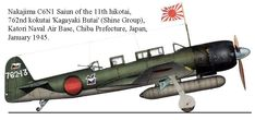 The Nakajima Saiun ('Coloured Cloud') was a carrier-based reconnaissance aircraft used by the Imperial Japanese Navy Air Service in World War II. Navy Aircraft, Aircraft Photos, Ww2 Aircraft, Military Aircraft, Imperial Japanese Navy, War Thunder, Ww2 Planes, Armada, Luftwaffe