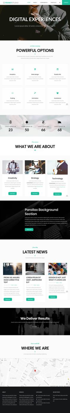 Franky Theme #HTML5CSS3 #Bootstrap #webtemplates #responsivedesign #websitethemes #WordPressThemes #businessthemes