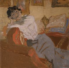 Edouard Vuillard - Madame Hessel on the Sofa