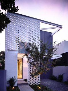 casa moderna para terreno estreito