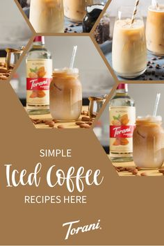 Our iced coffee recipes use a variety of Torani Syrups. These iced coffee recipes are the perfect addition to your morning routine or afternoon pick me up. Start creating your perfect at home iced coffee with these easy iced coffee recipes. Start making your iced coffee here! Coffee Drink Recipes, Coffee Drinks, Torani Syrup, Iced Coffee At Home, How To Make Ice Coffee, Pick Me Up, Cold Brew, Recipe Using, Brewing
