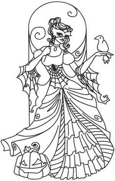 Craft Halloween enchantment with this beautiful masquerade design! Downloads as a PDF. Use pattern transfer paper to trace design for hand-stitching.
