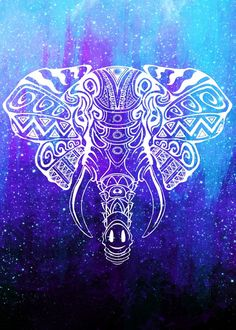 Hey, I found this really awesome Etsy listing at https://www.etsy.com/listing/483409327/heavenly-elephant-art-print-space-art