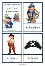 Woordkaarten Piraten - klein + lidwoorden