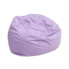 Small Lavender Dot Kids Bean Bag Chair DG-BEAN-SMALL-DOT-PUR-GG