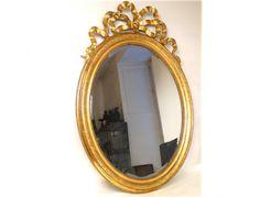 Miroir Louis XVI, cadre bois doré, Napoléon III, 19e - Antiques de Laval