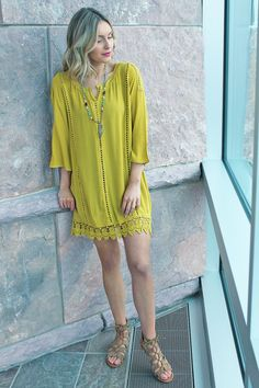Shop the look: Kiwi Crochet Trim Tunic