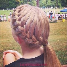 11 Everyday Hairstyles for French Braid Easy Braid Pony: French Hairstyles Side Ponytail Hairstyles, French Braid Hairstyles, Everyday Hairstyles, Easy Hairstyles, Pretty Hairstyles, Softball Hairstyles, Updo Hairstyle, Wedding Hairstyles, Gymnastics Hairstyles