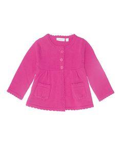 Look what I found on #zulily! Fuchsia Pocket Cardigan - Infant, Toddler & Girls #zulilyfinds