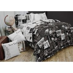 Travel the world in your dreams! #bedding