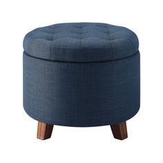 Use two of these at foot of bed 0 store stuff inside, and then bring out for extra seating for inside/outside gatherings Tufted Round Storage Ottoman - Threshold: Target Green Ottoman, Diy Ottoman, Round Ottoman, Upholstered Ottoman, Ottoman Bench, Small Storage Ottoman, Tufted Storage Bench, Foyer Storage, Large Sectional Sofa