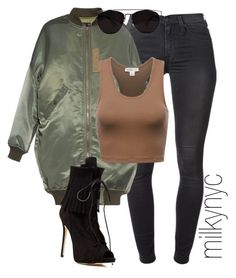 """""""Untitled #708"""" by mizzbehave ❤ liked on Polyvore featuring 7 For All Mankind, R13 and Giuseppe Zanotti"""