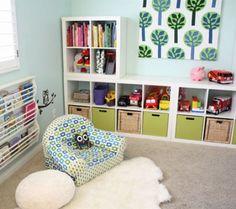 Hello Sunshine Ikea Hack Kids, Ikea Hacks, Girl Room, Girls Bedroom, Bedroom Decor, Koje, Affordable Storage, Ikea Kallax Shelving, Play Beds