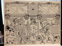 Circus Vintage Paper Construction Cut Outs 1941 Paine Publishing 8 Dioramas | eBay