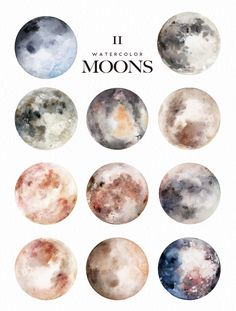 Watercolor Moons + Bonus by Graphic Box on Creative Market - Watercolor Moons + . - Watercolor Moons + Bonus by Graphic Box on Creative Market – Watercolor Moons + Bonus by Graphic B - Painting Inspiration, Art Inspo, Doodle Inspiration, Design Inspiration, Painting & Drawing, Watercolor Paintings, Drawing Tips, Watercolors, Moon Painting