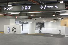 Car Park Ceiling Hung Diectional Signage   Ion Orchard