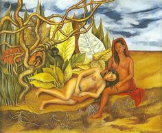 Two nudes in the forest, by Frida Kahlo