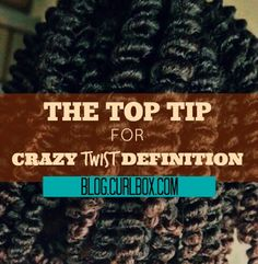 A super simple way to get incredible definition out of your two strand twist is to coil each of the two pieces of your twist and then proceed with twisting. This method not only cuts down on frizz but it also extends the life of your twist.