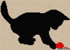 Black kitty, found on : http://eng.ekzark.com/load/cross_stitch/silhouette/game/4-1-0-247