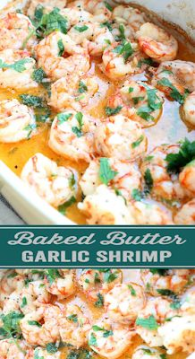 Baked Garlic Shrimp Recipe - FOODS RECIPE Seafood Casserole Recipes, Baked Shrimp Recipes, Seafood Recipes, Dinner Recipes, Baked Garlic, Garlic Shrimp, Shrimp Dishes, Fish Dishes, Low Carb Recipes