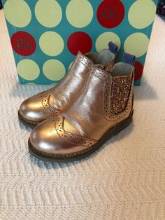 7c51bf67d27e Mini Boden Girls Toddler Size 26 US 9.5 Rose Gold Ankle Boots EUC Zip Up  Glitter  fashion  clothing  shoes  accessories  babytoddlerclothing   babyshoes ...
