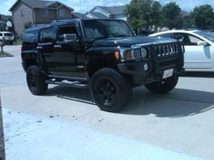 2007 Hummer H3 SUV Black Front View