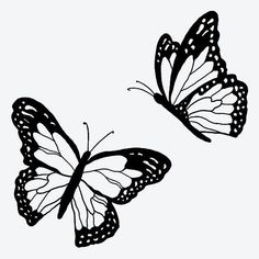 Butterfly Thigh Tattoo, Monarch Butterfly Tattoo, Butterfly Outline, Butterfly Drawing, Butterfly Tattoo Designs, Butterfly With Flowers Tattoo, Butterfly Tattoos For Women, Cute Tiny Tattoos, Bff Tattoos