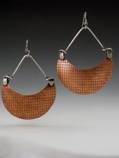 Copper Blade Earrings copper blades by MicheleGradyDesigns on Etsy