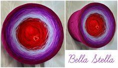 Bobbel *Bella Stella* Material: Hochbauschacryl 6 Farben (Rein) karminrot weinrot orchid flieder violett beere