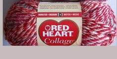 Red Heart Collage Yarn  Color=  Red Chief by TheKnittingGnomeVT on Etsy