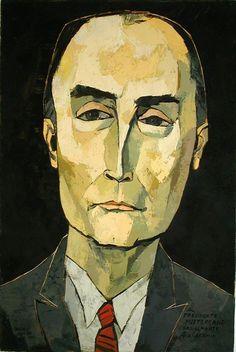 Oswaldo Guayasamín (1919-1999) was een Ecuadoraans kunstschilder. Hij wordt gezien als een van de belangrijkste kunstenaars van dit land. Hij staat vooral bekend om zijn sociaalkritische schilderijen. Hij heeft een specifieke schilderstijl waarin hij het lijden van het Latijns-Amerikaanse volk weergeeft. Mensen met verweerde handen en met tranen in de ogen, en skeletachtige figuren die hun handen ten hemel heffen komen veelvuldig voor- Mitterand