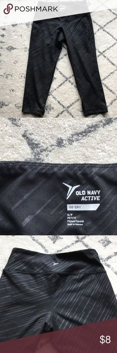 NWOT Old Navy work out pants New without tags Old Navy work out pants.  Never worn. Black with black stripes. Old Navy Pants Capris