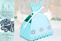 DIY Wedding Sparkle with Artistic Crystals: Tabletop Gift or Birdseed Boxes  This would be great for a little girls B-Day party, Tea Party ETC