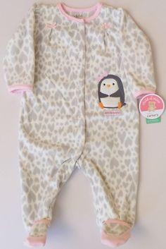 "Child Of Mine By Carter's ""Pretty Like Mommy"" Heart Fleece Pajamas 6-9 Mon NWT #ChildOfMineByCarters #FleecePajamas"