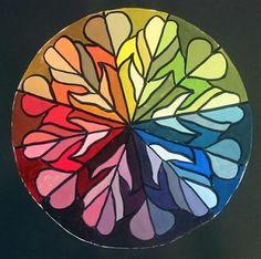 radial design color wheel