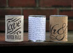 Tin Can for Vase, Centerpiece or Office Organizer.