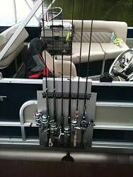 Boat Railing Rod Holder by stubb111 -- fishing rod holder for the pontoon boat.  they hang on the railing of the boat and also hang on the wall of the garage also, when not in use on the boat.  these have gone through a couple of revisions to the design over the last 2 yrs but, the concept is the...