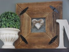 Make your own rustic frame out of pallet wood