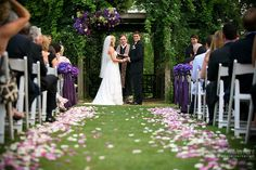 Flower petals add some color to brighten your ceremony