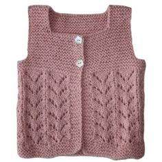 Sleeveless jacket for baby 3-18 months.