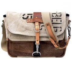 ee424b38f5 Light blue Leather Messenger Bag