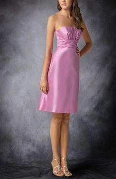 Strapless Sleeveless A-line Reds Cocktail Dresses - OuterInner.com