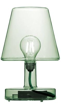 The all new Fatboy Transloetje cordless table lamp in transparent green