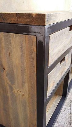 Купить или заказать Комод в стиле Лофт в интернет-магазине на Ярмарке Мастеров. Комод в стиле Лофт Размер 1600х550х800 Столешница - хвоя, тонированное масло и защитный масло-воск Каркас - труба 40х40, защитный лак Изготавливаем мебель на металлокаркасе в индивидуальных размерах по вашим размерам и образцам с фото. Столы, тумбы, консоли, журнальные столики, полки, стеллажи.